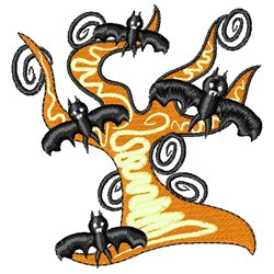 Halloween Tree embroidery design
