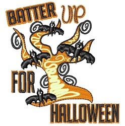 Batter Up For Halloween embroidery design