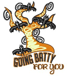 Going Batty For You embroidery design