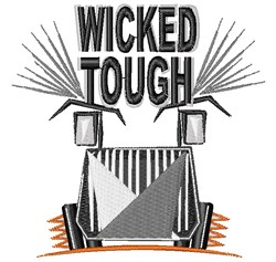 Wicked Tough embroidery design