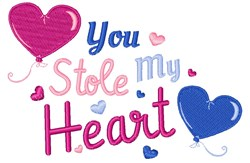 You Stole My Heart embroidery design