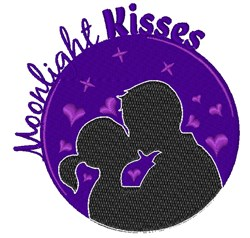 Moonlight Kisses embroidery design