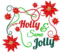 Holly And Some Jolly embroidery design