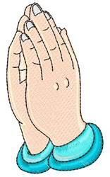 Praying Hand embroidery design