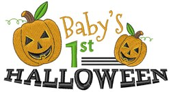 Babys 1st Halloween embroidery design