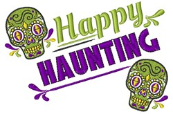 Happy Haunting embroidery design
