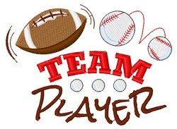 Team Player embroidery design