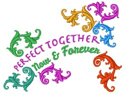 Together Now & Forever embroidery design