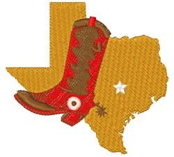 Texas & Cowboy Boot embroidery design