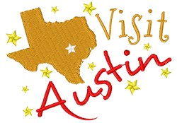 Texas Visit Austin embroidery design