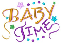 Baby Time embroidery design