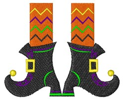 Witch Boots embroidery design