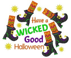 Have A Wicked Good Halloween embroidery design