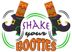 Shake Your Booties embroidery design