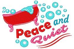Peace & Quiet embroidery design