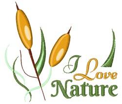 I Love Nature embroidery design