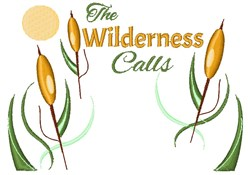 The Wilderness Calls embroidery design