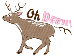 Oh Deer! embroidery design