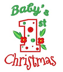 First Baby s First Christmas embroidery design