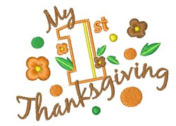 My First Thanksgiving embroidery design