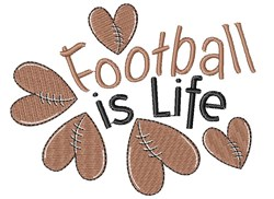 Football Is Life embroidery design