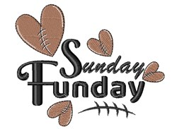 Sunday Funday Football embroidery design