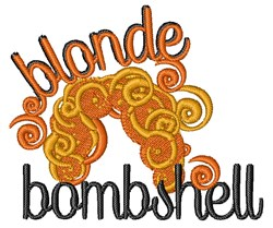 Blonde Bombshell embroidery design