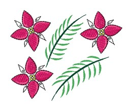 Holiday Flowers Base embroidery design