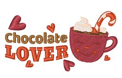 Hot Cocoa Chocolate Lover embroidery design