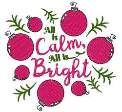 Calm & Bright embroidery design