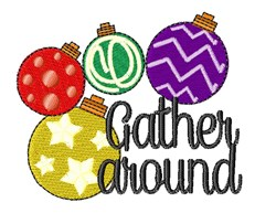 Ornaments Gather Around embroidery design