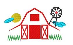 Barn Base embroidery design