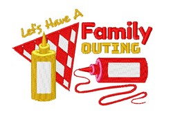 Have A Family Outing embroidery design