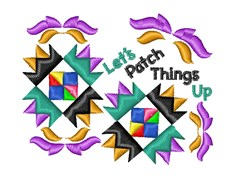 Quilt Square Let s Patch Things Up embroidery design