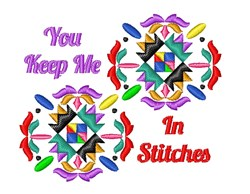 Quilt Square You Keep Me In Stitches embroidery design