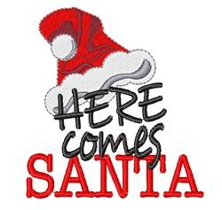 Santa Hat Here Comes Santa embroidery design