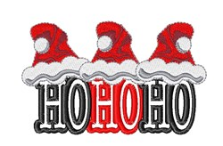 Santa Hat HoHoHo embroidery design