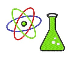 Science Beaker embroidery design