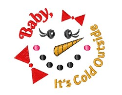 Snowman Face Baby It s Cold Outside embroidery design