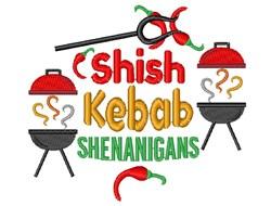 BBQ Shish Kebab Shenanigans embroidery design