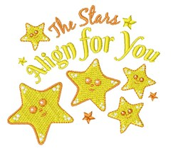 The Stars Align For You embroidery design