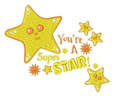 You re A Superstar embroidery design