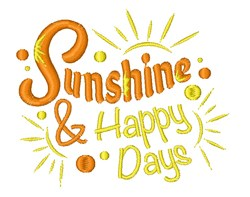 Sunshine & Happy Days embroidery design