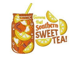 Southern Sweet Tea embroidery design