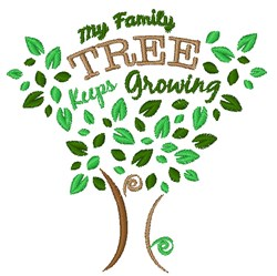My Family Tree Keeps Growing embroidery design