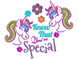 Unicorn Know That You re Special embroidery design