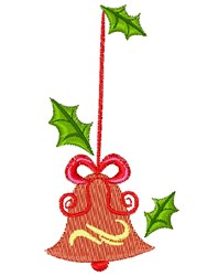 Christmas Bell Ornament embroidery design