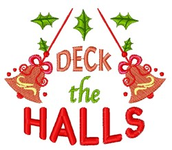 Bell Ornament Deck The Halls embroidery design