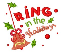 Bell Ornament Ring In The Holidays embroidery design
