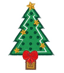 ChristmasTree Base embroidery design